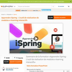 iSpring logiciel de réalisation de modules e-learning interactifs