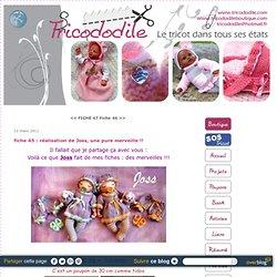 fiche 45 : poupon tout tricot : réalisation de Joss, une pure merveille !! - MODELES TRICOT POUPONS POUPEES