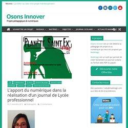 L'apport du numérique dans la réalisation d'un journal de Lycée professionnel