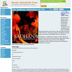 Free Audio Book - The Sadhana: Realisation of Life by Rabindranath Tagore