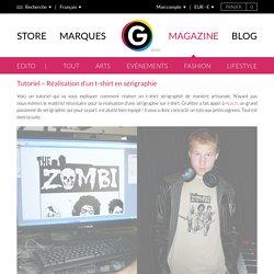 Tutoriel - Réalisation d'un t-shirt en sérigraphie - GRAFITEE