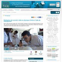 L'Agence nationale des Usages des TICE - Réalisation de tutoriels vidéo en physique-chimie à l'aide de smartphones