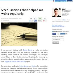 5 realisations that helped me write regularly
