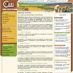 Les cahiers de l'agroécologie Robert Morez