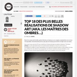 Top 18 des plus belles réalisations de shadow art (aka. les Maîtres des Ombres…)