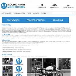 Motos : projets spéciaux, réalisations, l'Atelier Modification Motorcycles
