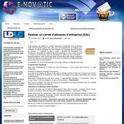 Réaliser un carnet d'adresses d'entreprise (GAL) | ::: E-NOVATIC - Le Blog :::