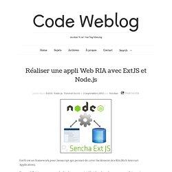 Réaliser une appli Web RIA avec ExtJS et Node.js