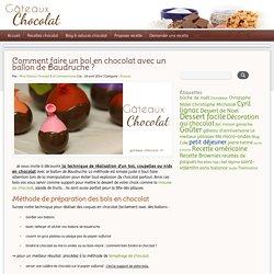 Comment réaliser un bol en chocolat avec un ballon de Baudruche ?