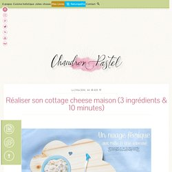 Réaliser son cottage cheese maison - Chaudron Pastel