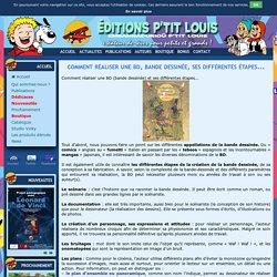 Comment réaliser une BD, bande dessinée, ses différentes étapes... - Editions P'tit Louis