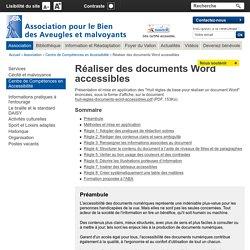 Réaliser des documents Word accessibles