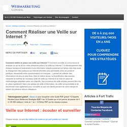 Benchmark et Veille d'information sur Internet : connaître son marché et surveiller la concurrence - Webmarketing conseil