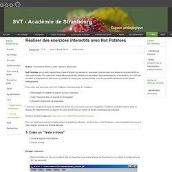TICE - Réaliser des exercices interactifs avec Hot Potatoes
