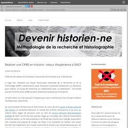 Réaliser une CIFRE en histoire : retour d'expérience à SNCF