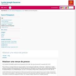 LYCEE GENERAL JOSEPH SAVERNE - Réaliser une revue de presse