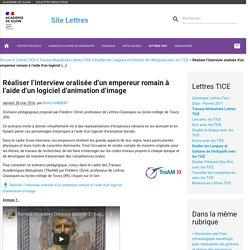Réaliser l'interview oralisée d'un empereur romain à l'aide d'un logiciel d'animation d'image