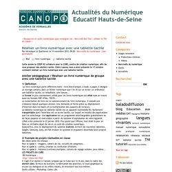 Réaliser un livre numérique avec une tablette tactile - Actualités du Numérique Educatif Hauts-de-Seine
