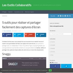 5 outils pour réaliser et partager facilement des captures d'écran