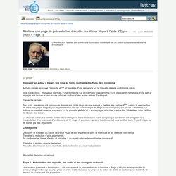 Lettres - Réaliser une page de présentation discutée sur Victor Hugo à l'aide d'Elyco (outil « Page »)