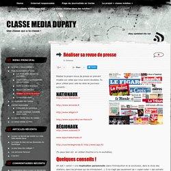 Réaliser sa revue de presse « classe media dupaty