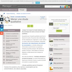 Réaliser une étude qualitative : articles, exemples et cours