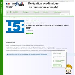 Réaliser une ressource interactive avec H5P