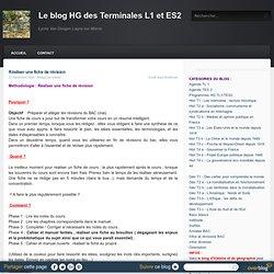 Réaliser une fiche de révision - Le blog HG des Terminales L1 et ES2