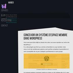 Réaliser un système de zone membre dans WordPress - wabeo