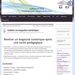 réaliser un magazine numérique