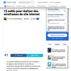 15 outils pour réaliser des wireframes de site internet