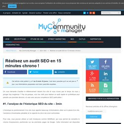 Réalisez un audit SEO en 15 minutes chrono