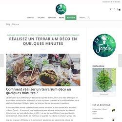 Réalisez un terrarium déco en quelques minutes