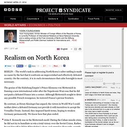 Realism on North Korea by Yoon Young-kwan