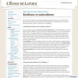 Réalisme et naturalisme - L'École de Latoile