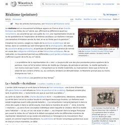 Réalisme en peinture (wikipédia)