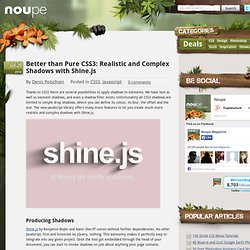 Better than Pure CSS3: Realistic and Complex Shadows with Shine.js