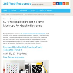 60+ Free Realistic Poster & Frame Mock-ups For Graphic Designers - 365 Web Resources