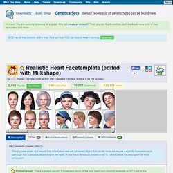 mod the sims 2 - Realistic Heart Facetemplate (edited with Milkshape)