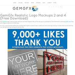 Realistic Logo Mockups 2 and 4 (Free Download)