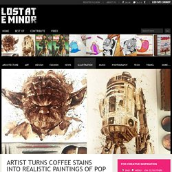 Artist turns coffee stains into realistic paintings of pop culture characters - Lost At E Minor: For creative people