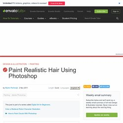 Paint Realistic Hair Using Photoshop