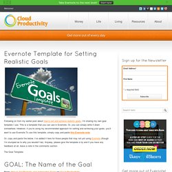 Evernote Template for Setting Realistic Goals