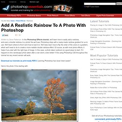 Photoshop Realistic Rainbow Effect Tutorial