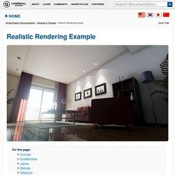 Realistic Rendering Example