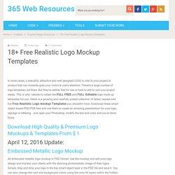 18+ Free Realistic Logo Mockup Templates