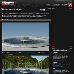 Realistic Water in 3DS Max
