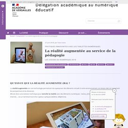 La réalité augmentée au service de la pédagogie : utilisations, outils