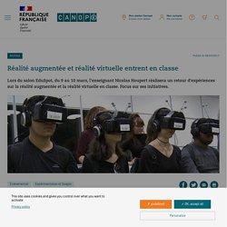 Réalité augmentée et réalité virtuelle entrent en classe