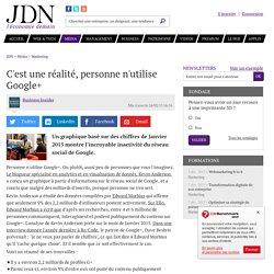 C'est une réalité, personne n'utilise Google+